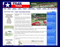 Tyler Texas travel, tourism, lodging, dining, shopping and other information